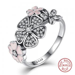 Inel din argint Pink Bali