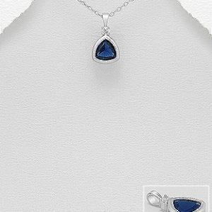 Pendantiv din Argint placat cu Rodiu Midnight Blue