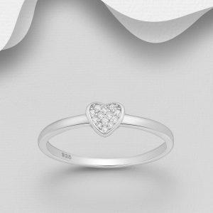 Inel din Argint Pure Heart